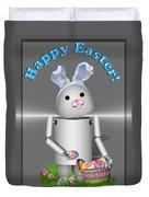 Robo-x9 The Easter Bunny Duvet Cover