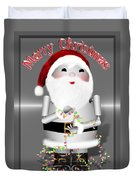 Robo-x9 Wishes A Merry Christmas Duvet Cover