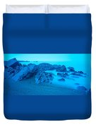 Rock Formations On The Coast, Central Duvet Cover