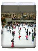 Rockefeller Center Skating Rink New York City Duvet Cover
