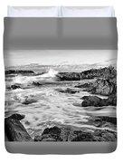 Rocky Asilomar Beach In Monterey Bay At Sunset. Duvet Cover
