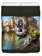 Romance In Venice Duvet Cover