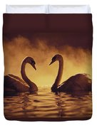 Romantic African Swans Duvet Cover