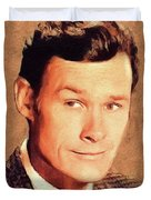 Ron Hayes, Vintage Actor Duvet Cover