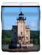 Rondout Lighthouse On The Hudson River New York Duvet Cover