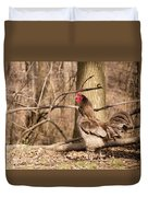 Rooster In The Woods Duvet Cover