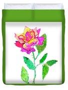 Rose, Watercolor Painting Duvet Cover