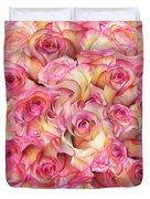 Roses Background Duvet Cover