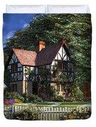 Roses House Duvet Cover