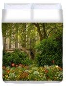 Rouen Abbey Garden Duvet Cover
