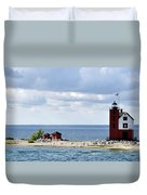 Round Island Lighthouse Duvet Cover