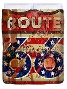 Route 66 T-shirt Duvet Cover