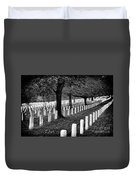 Rows Of Honor Duvet Cover
