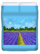 Rows Of Lavender In Provence Duvet Cover