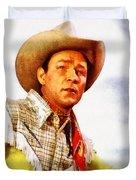 Roy Rogers, Vintage Western Legend Duvet Cover