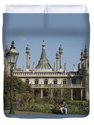 Royal Pavilion And Gardens In Brighton Duvet Cover