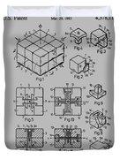 rubik's cube Patent 1983 Duvet Cover