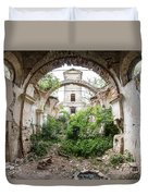 Ruins Of The Church Of St Wenceslas Duvet Cover