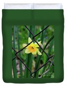 1 Sad Daffy Behind Bars Duvet Cover