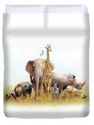 Safari Animals In Africa Composite Duvet Cover