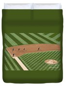 Safeco Field Abstract Patterns With Ground Crew Duvet Cover