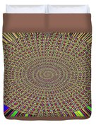 Saguaro Forest Abstract Duvet Cover