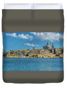 Sail Boat And Cathedral Duvet Cover