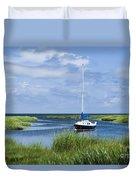 Sailboat Salt Marsh Duvet Cover