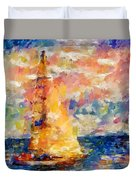 Sailing In The Sea Duvet Cover