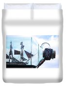 Sailing Within The Bottle Duvet Cover