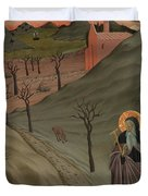 Saint Anthony The Abbot In The Wilderness Duvet Cover