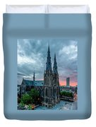 Saint Catherina Church In Eindhoven Duvet Cover by Semmick Photo