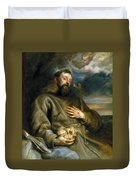 Saint Francis Of Assisi In Ecstasy Duvet Cover