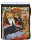 Saint Jerome Extracting A Thorn From A Lion's Paw Duvet Cover