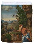 Saint Jerome In A Landscape Duvet Cover