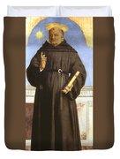 Saint Nicholas Of Tolentino Duvet Cover
