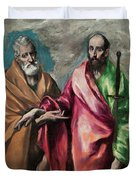 Saint Peter And Saint Paul Duvet Cover