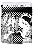 Saints Perpetua And Felicity Duvet Cover