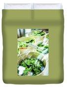 Salad Bar Buffet Fresh Mixed Lettuce Display Duvet Cover