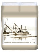 Salvage Barge, Delaware River, Philadelphia, C.1900 Duvet Cover