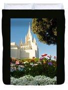 San Diego Flowers Duvet Cover