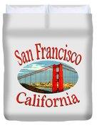 San Francisco California Design Duvet Cover