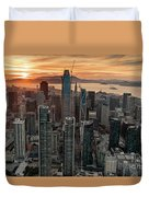 San Francisco Financial District Skyline Duvet Cover