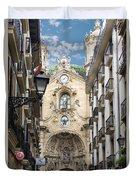 Basilica Of Saint Mary Of The Chorus - San Sebastian - Spain Duvet Cover