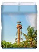 Sanibel Lighthouse Duvet Cover