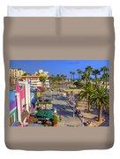 Santa Monica Beach Duvet Cover