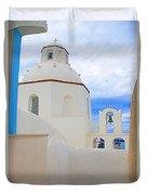 Santorini Church Dome Duvet Cover