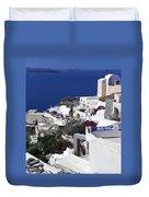 Santorini Overview Duvet Cover