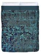 Satellite View Of Oklahoma City Duvet Cover