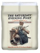 Saturday Evening Post Duvet Cover
